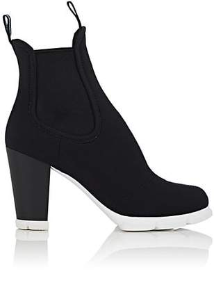 Prada Women's Neoprene Chelsea Ankle Boots - Nero