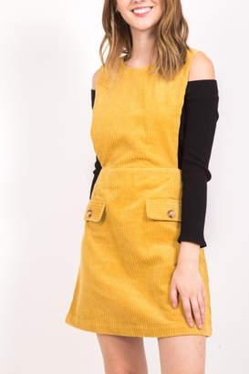 Very J Fall Overall Dress