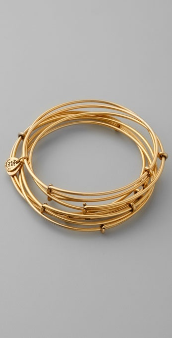 Alex And Ani Russian Gold Expandable Bangle Set
