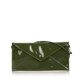 Fendi Green Patent leather Clutch bags