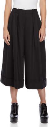 Jil Sander Navy Black Pleated Culottes