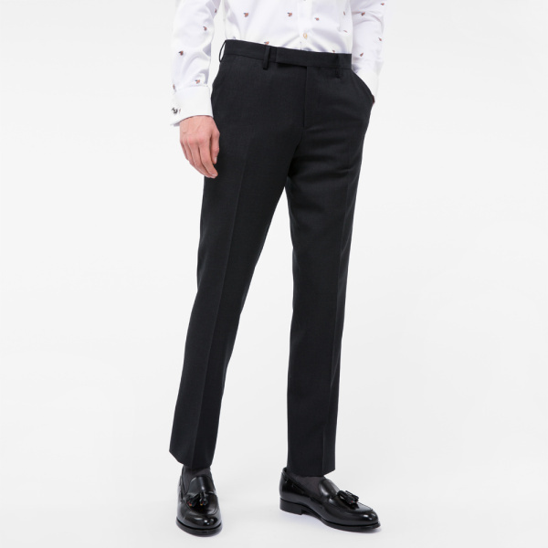 Paul SmithA Suit To Travel In - Men's Slim-Fit Charcoal Grey Wool Trousers