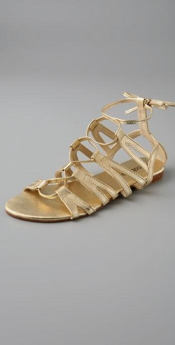 Cocobelle Cleo-Lace Up Roman Sandal