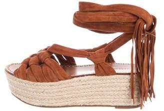 Sigerson Morrison Suede Peep-Toe Sandals