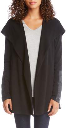 Karen Kane Faux Leather Detail Jacket