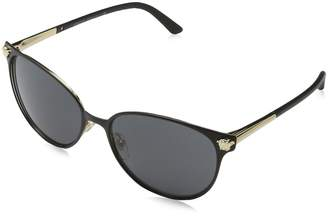 Versace Women's VE2168 Matte /Pale Gold/Grey Sunglasses