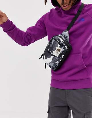 The North Face Kanga waist pack in black print