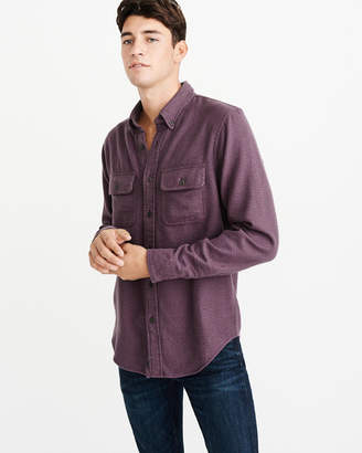 Abercrombie & Fitch Solid Flannel Shirt