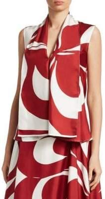 Victoria Beckham Sleeveless Silk Blouse