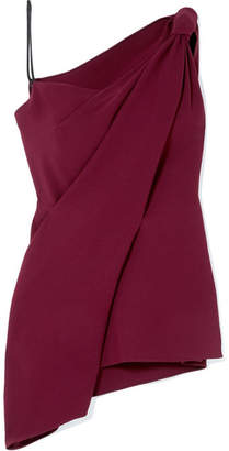 Roland Mouret Goxhill One-shoulder Crepe Top - Burgundy