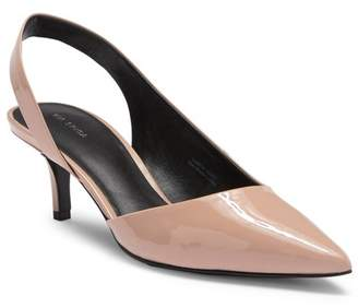 Via Spiga Marty Patent Leather Kitten Heel Pump