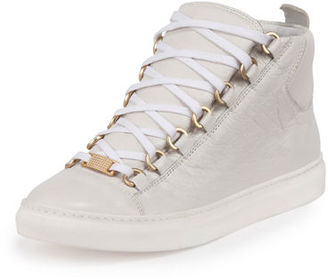 Balenciaga Arena Leather High-Top Sneaker $645 thestylecure.com