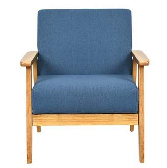 George Oliver Imhoff Modern Fabric Upholstered Armchair George Oliver