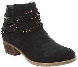 Kensie Suede Leather Ankle Booties - Gilberto