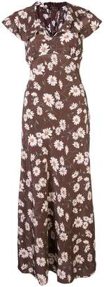 Michael Kors daisy print flared dress
