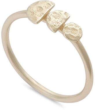 Oliver Bonas Danica Tiny Shapes Gold Plated Ring