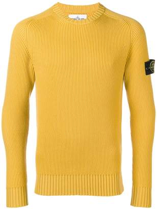 Stone Island ribbed round neck jumper