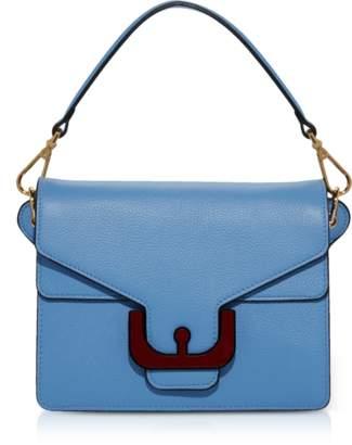 Coccinelle Ambrine Graphic Grained Leather Medium Satchel Bag w/Shoulder Strap
