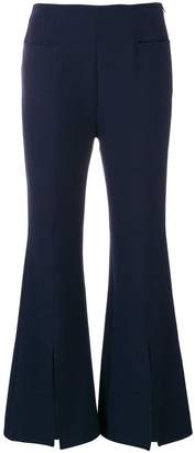 Roland Mouret split front flared trousers