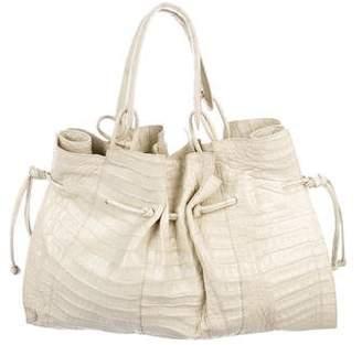 Nancy Gonzalez Pleated Crocodile Bag