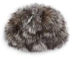 Adrienne Landau Silver Fox Fur Hat