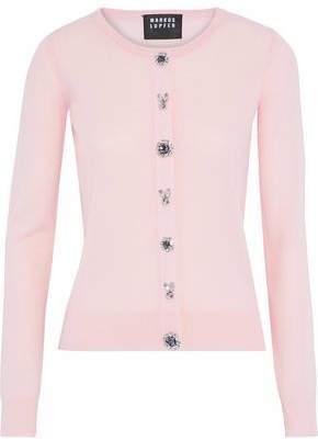 Markus Lupfer Crystal-Embellished Merino Wool Cardigan