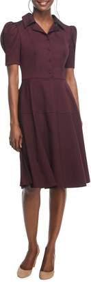 Gal Meets Glam Nina Twill Fit & Flare Dress