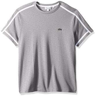 Lacoste Men's Short Sleeve 3 Ply Regular Fit Pique Tee Outline Croc