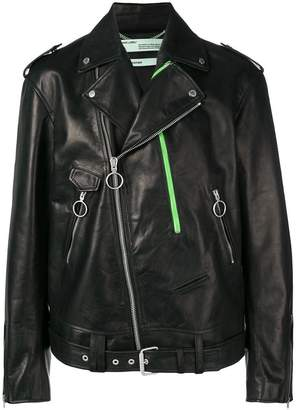 Off-White Exaggerated biker jacket