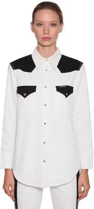 Calvin Klein Jeans Bicolor Cotton Denim Western Shirt