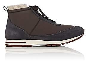 Loro Piana Men's Voyager Weekend Walk Sneakers-Dk. brown