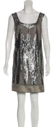 Philosophy di Alberta Ferretti Silk Sequined Mini Dress