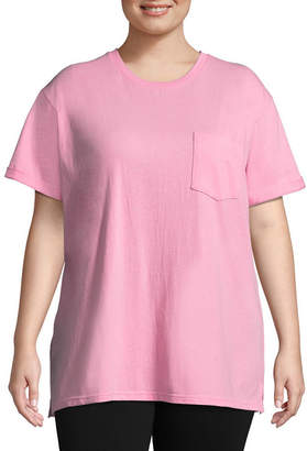 Flirtitude Teenage Dream Oversized Tee - Juniors Plus