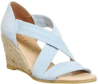 Office Maiden cross strap wedge Sandals