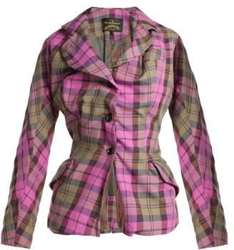 Vivienne Westwood Alcoholic Cotton Blend Tartan Jacket - Womens - Pink Multi
