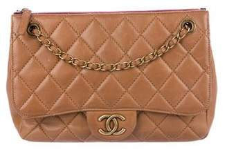 Chanel Small Blizzard Zip Top Flap Bag