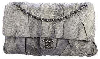 Chanel Jumbo Python Twisted Flap Bag