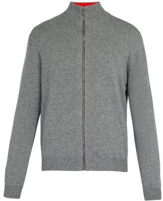 Paul Smith Zip Through Cashmere Sweater - Mens - Grey
