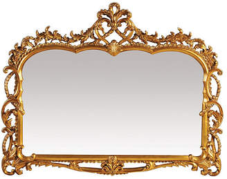 One Kings Lane Antique Inspired Landscape Mirror - Gold