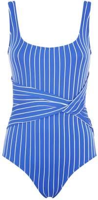 Jonathan Simkhai Striped Twisted Swimsuit