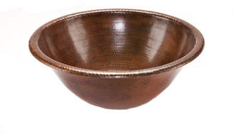 Premier Copper Products Metal Circular Drop-In Bathroom Sink