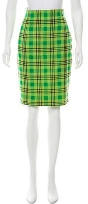 Gianni Versace Plaid Pencil Skirt