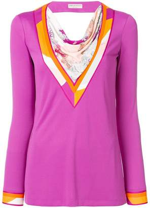 Emilio Pucci scarf panel longsleeved blouse