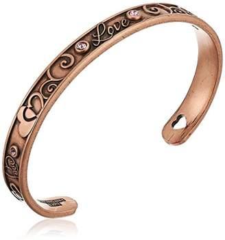 Alex and Ani Love Cuff Bracelet, Rafaelian Rose Gold-Tone