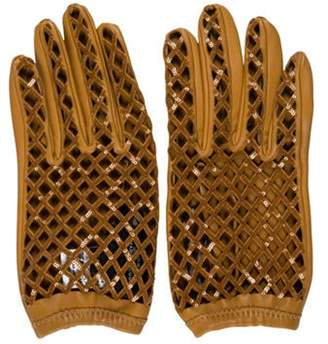 Marc Jacobs Embellished Leather Gloves w/ Tags Tan Embellished Leather Gloves w/ Tags