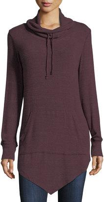 Allen Allen Funnel-Neck Asymmetric-Hem Sweater $75 thestylecure.com