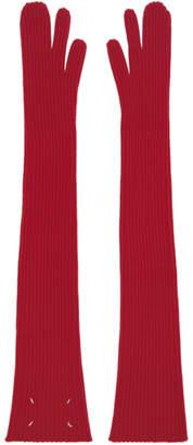 Maison Margiela Red Long Tabi Mittens