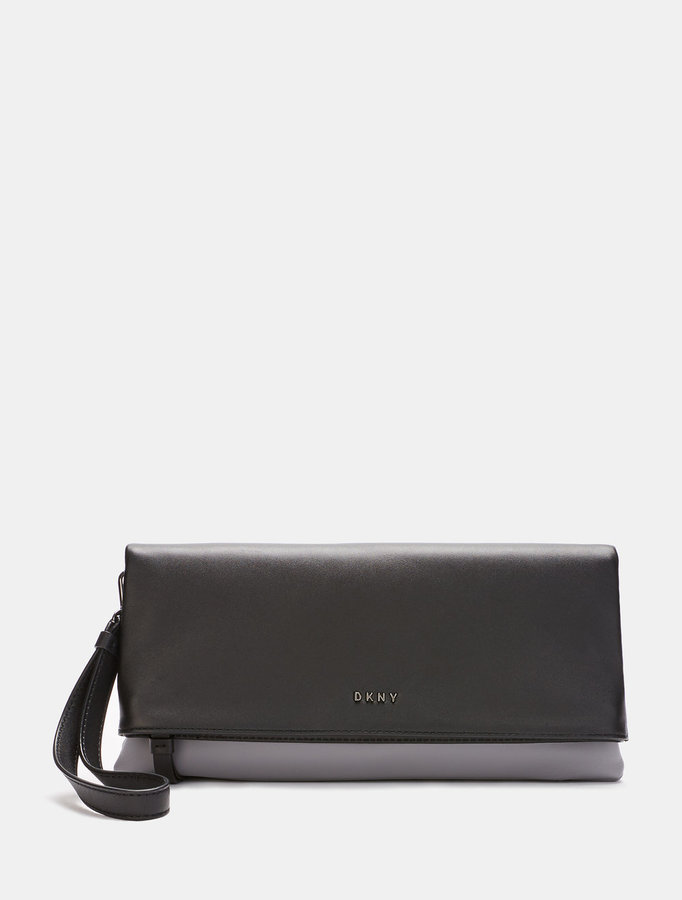 DKNY Heavy Nappa Leather Clutch
