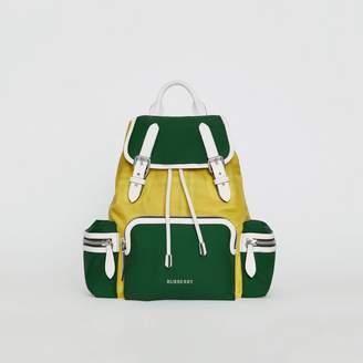 Burberry The Medium Rucksack in Colour Block Nylon