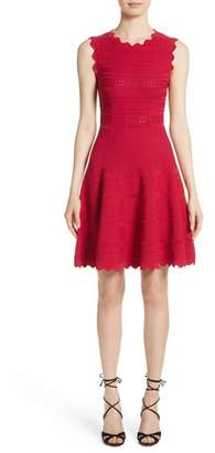 Yigal Azrouel Scallop Trim Knit Dress